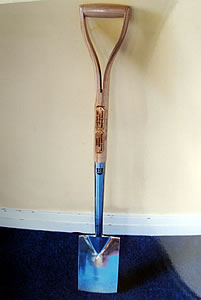 Ground breaking spade used in 2009