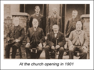 Trustees at church opening in 1901