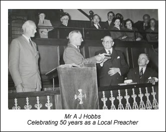 Celebrating A J Hobbs's 50 years as a Local Preacher