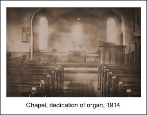 Dedicating the new organ, 1914