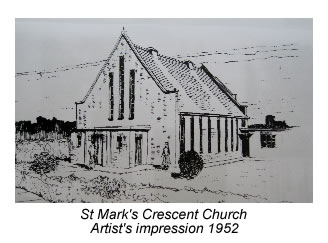 Artist's impression of new church, 1952
