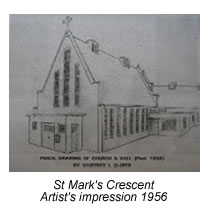 Artist's impression of the church, 1956